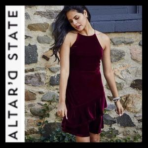 NWT Altar'd State Velvet Kaz Dress